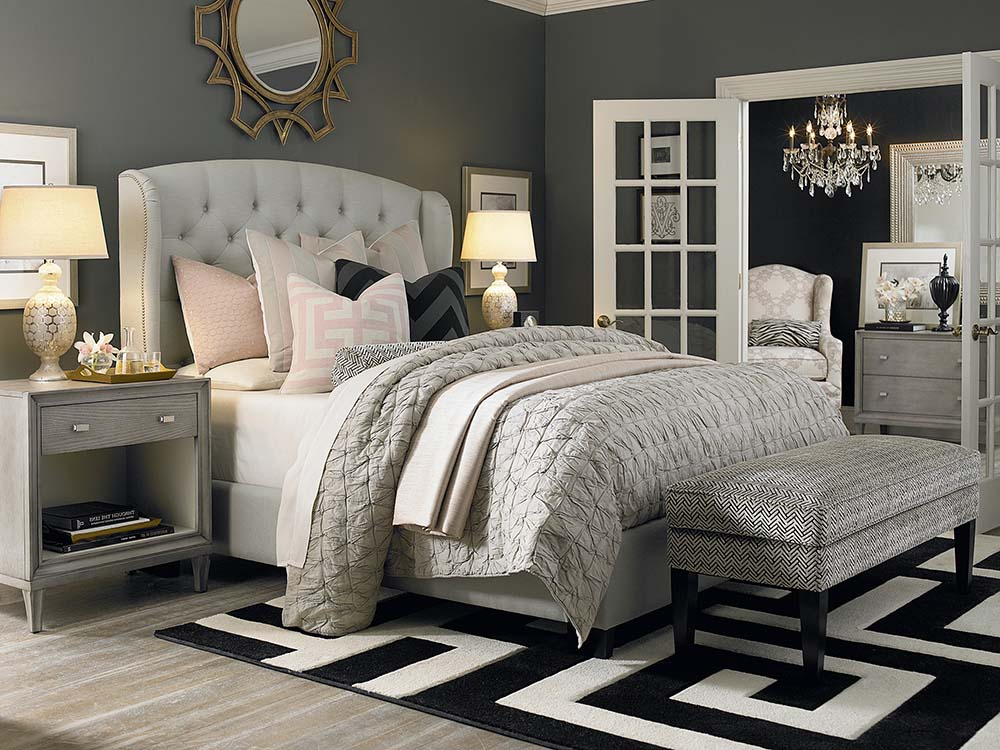 Custom Paris Arched Wing Bed Image