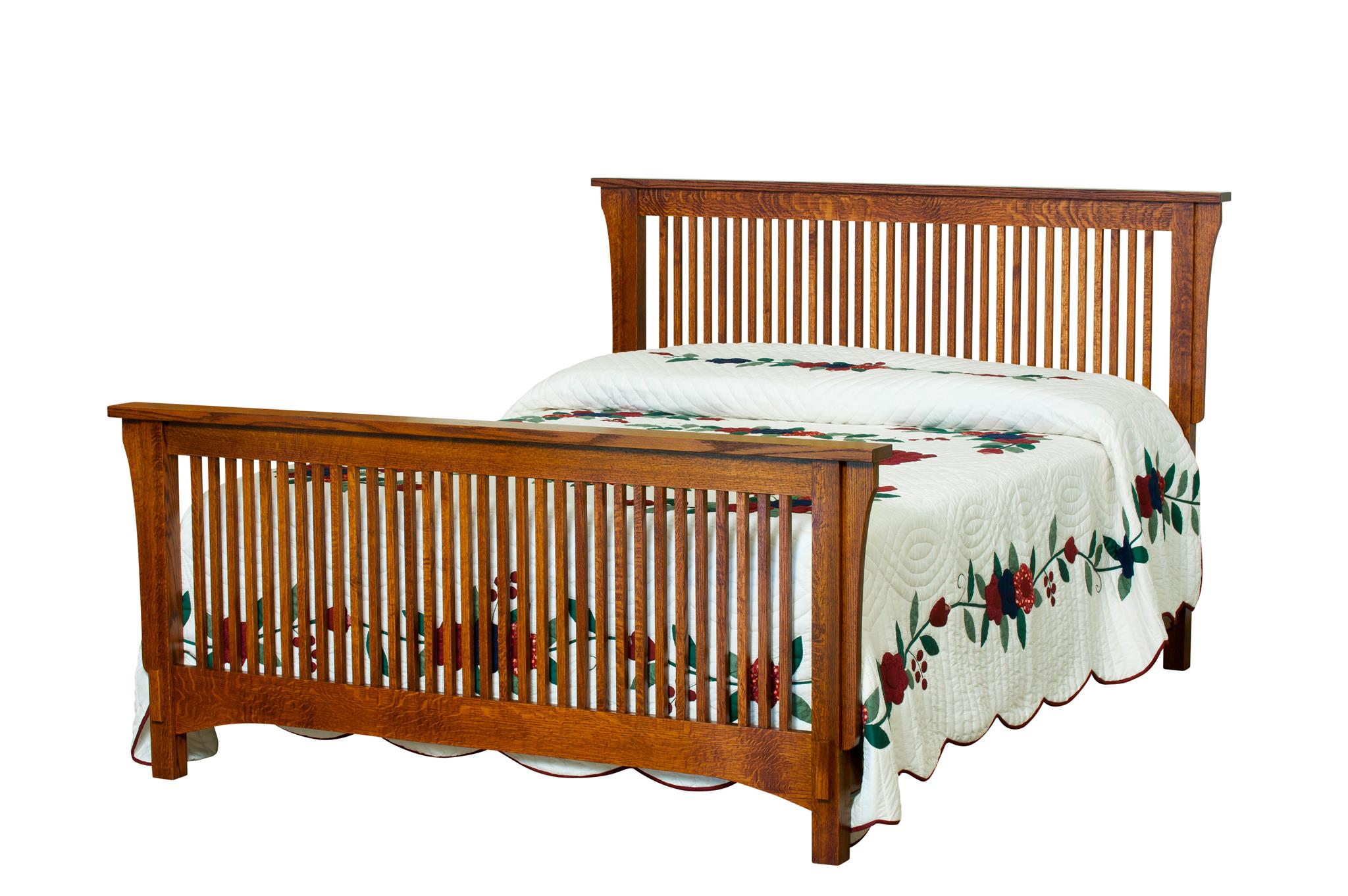 Amish Bungalow Spindle Bed Image