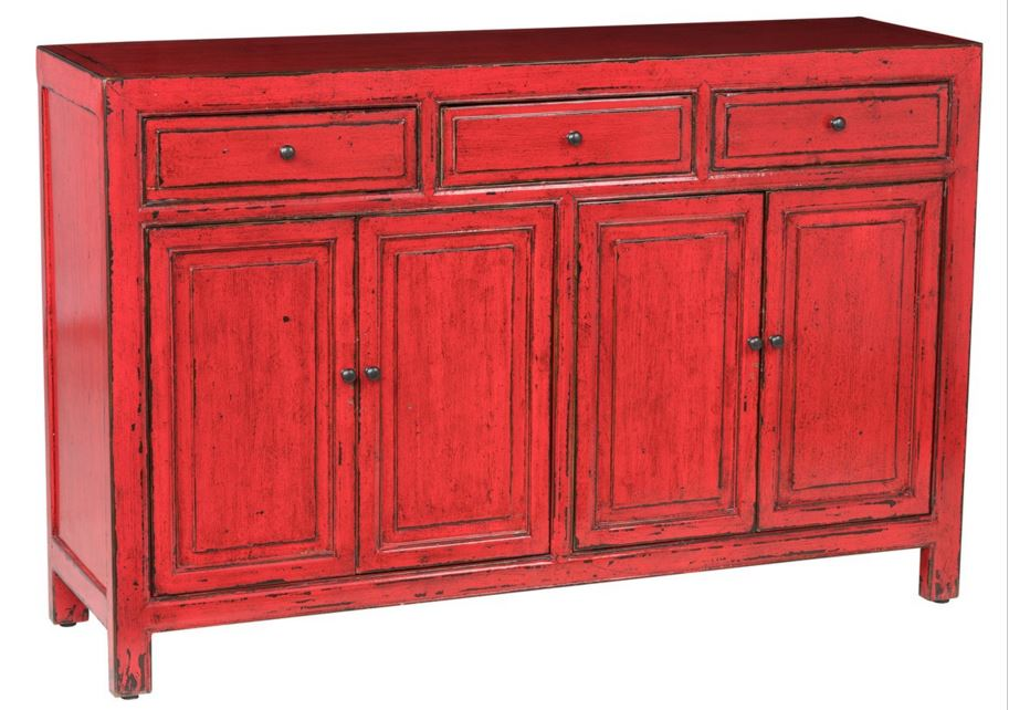 Bedford 3Dwr 4Dr Sideboard Red CH Image