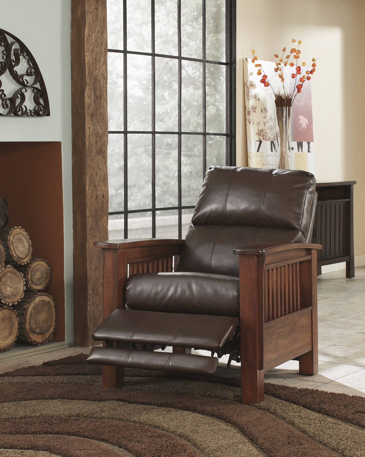 Santa Fe Bark High Leg Recliner Image