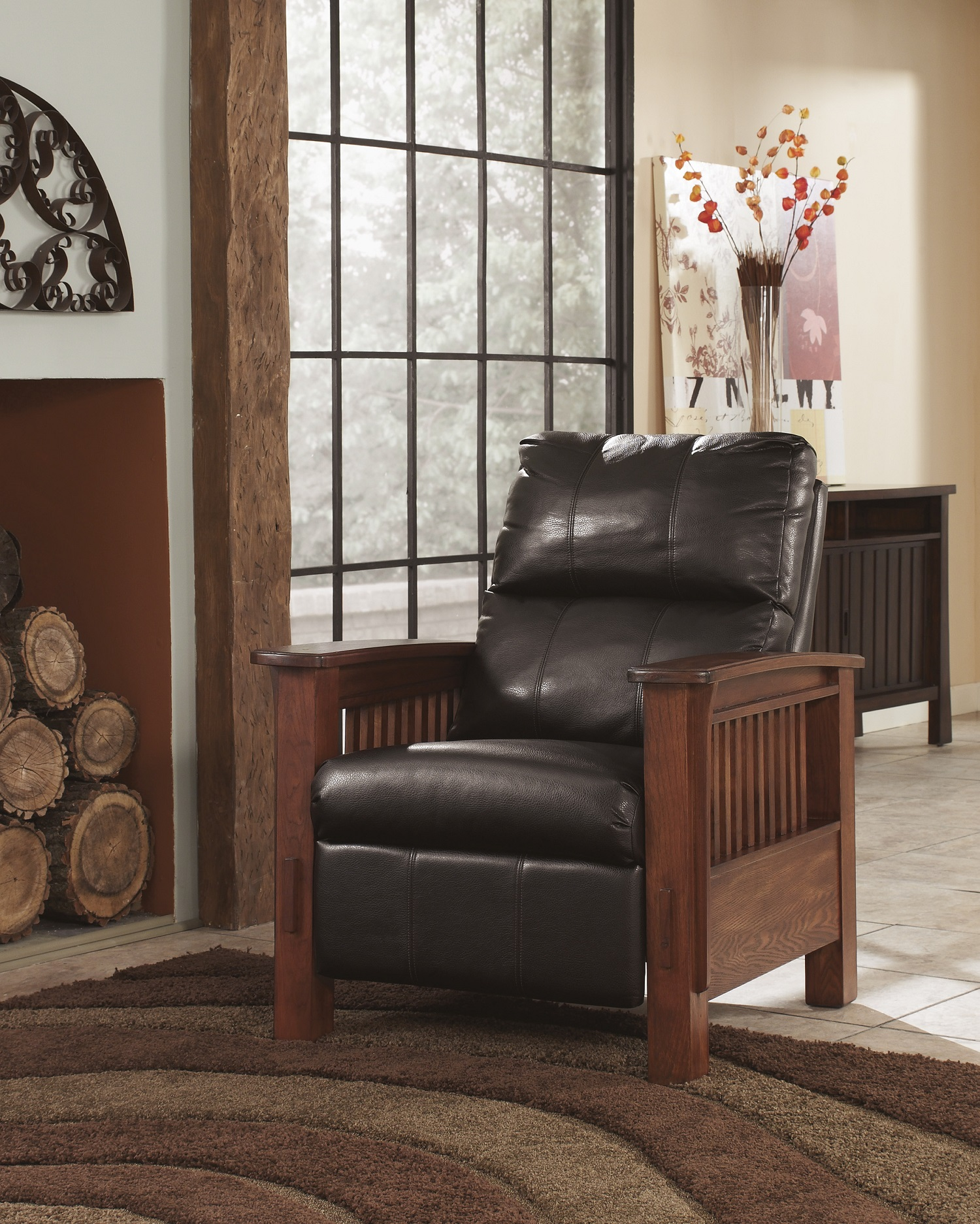 Santa Fe Chocolate High Leg Recliner Image