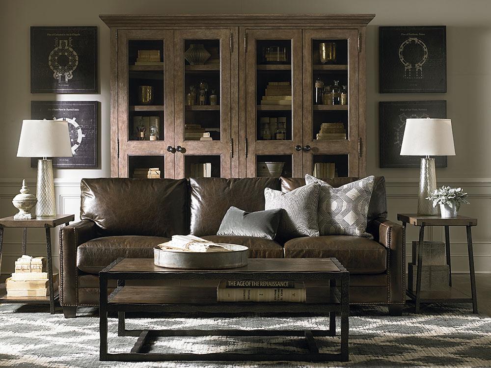 Ladson Custom Leather Sofa Image