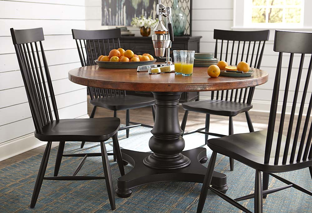 """Custom Dining 44"""" Round Copper Dining Table Image"""