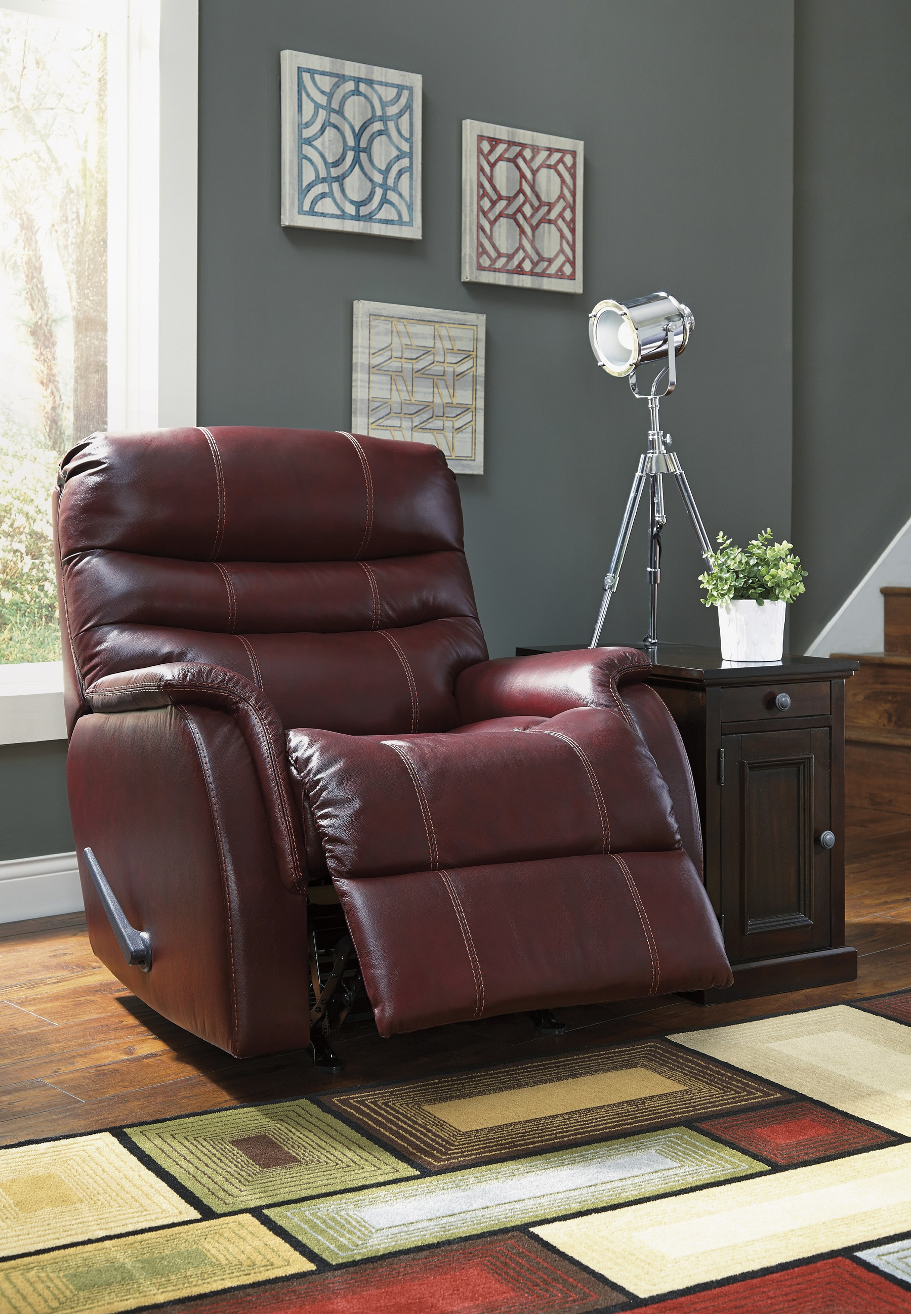 Bridger Leather Rocker Recliner Image