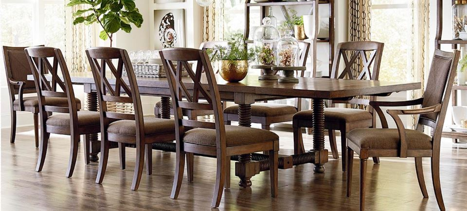 "Compass 104"" Trestle Dining Table Image"