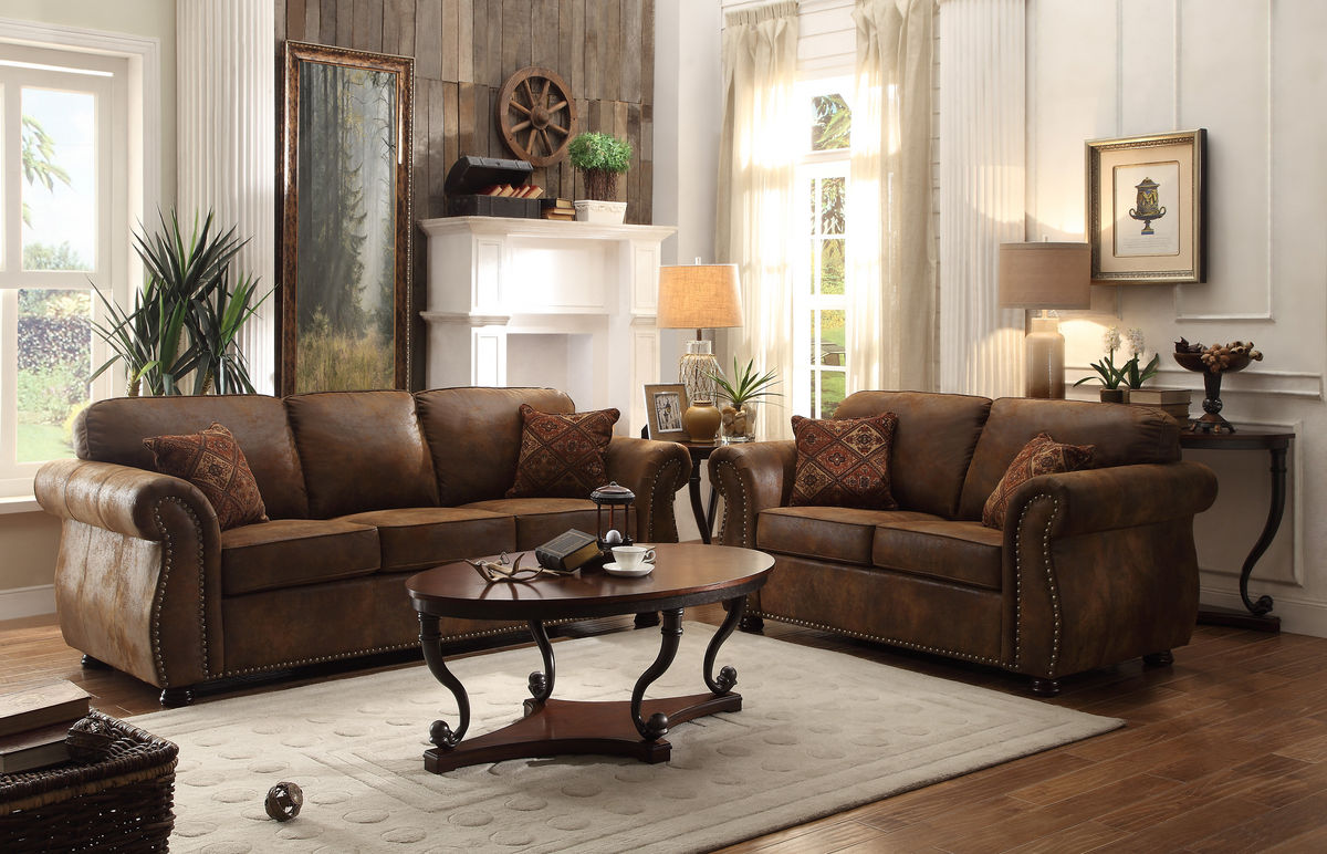Corvallis Sofa, love, chair & ottoman Image