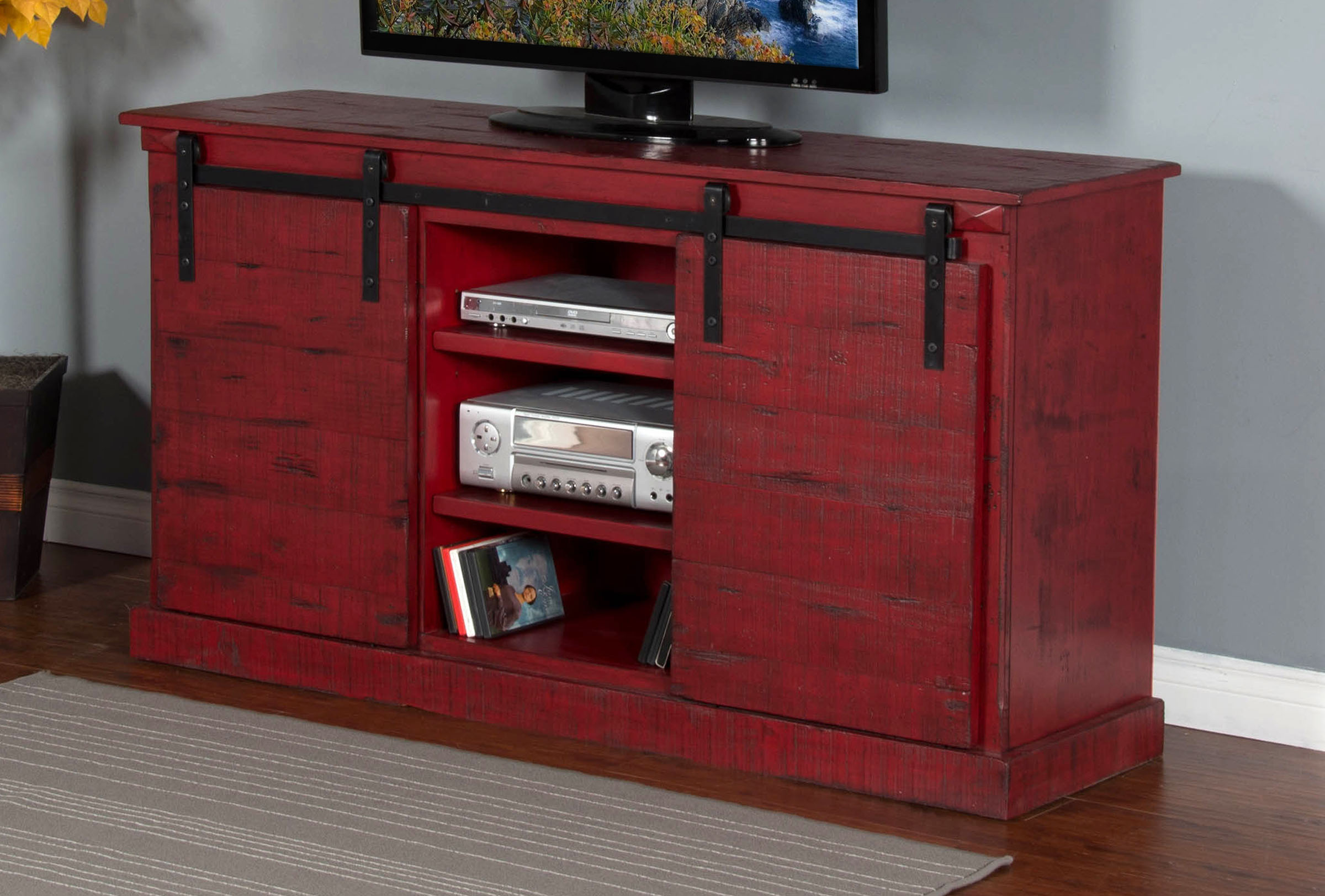 "Barn Tv console 62"" Image"