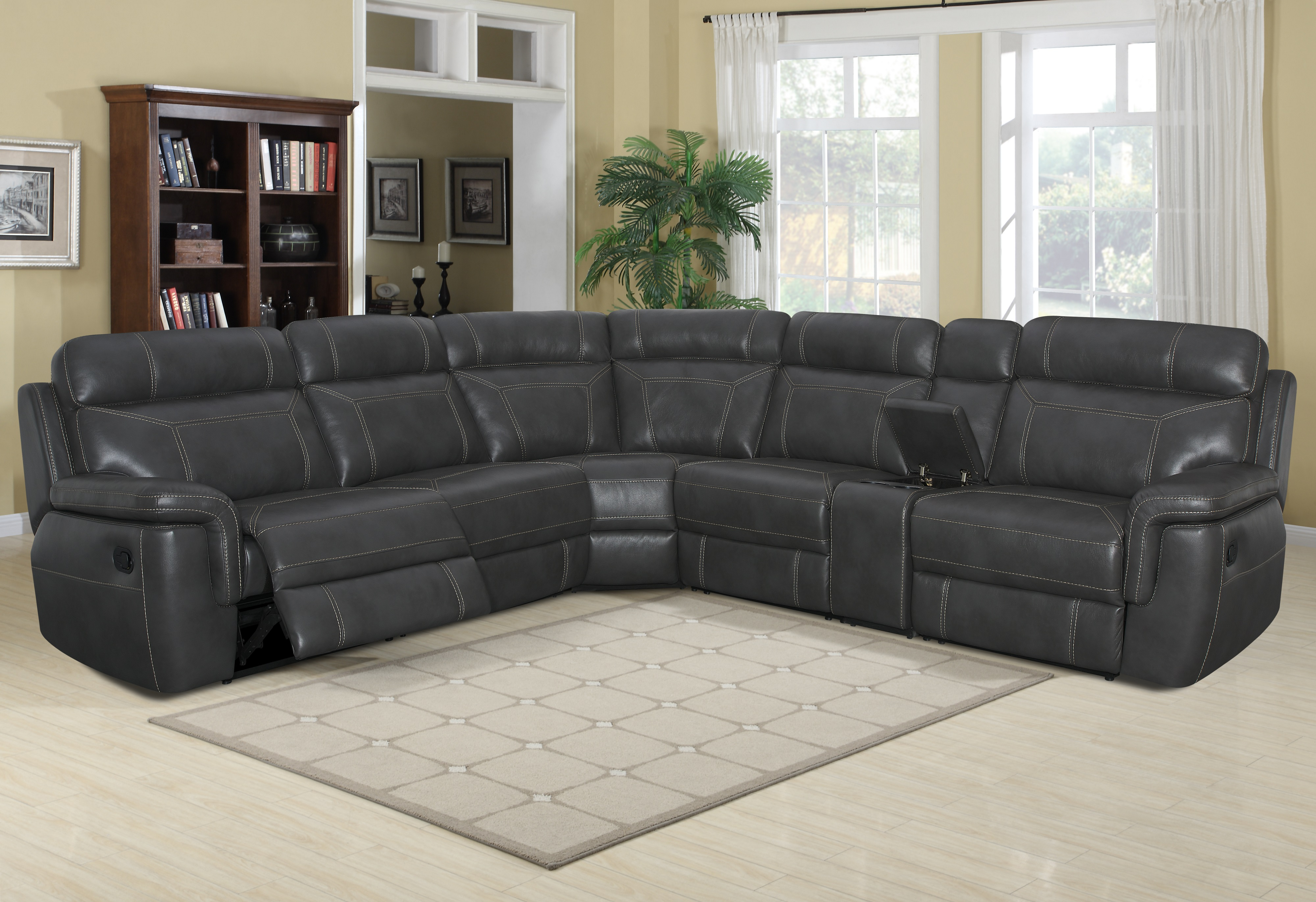 Silas Reclining Sectional Image