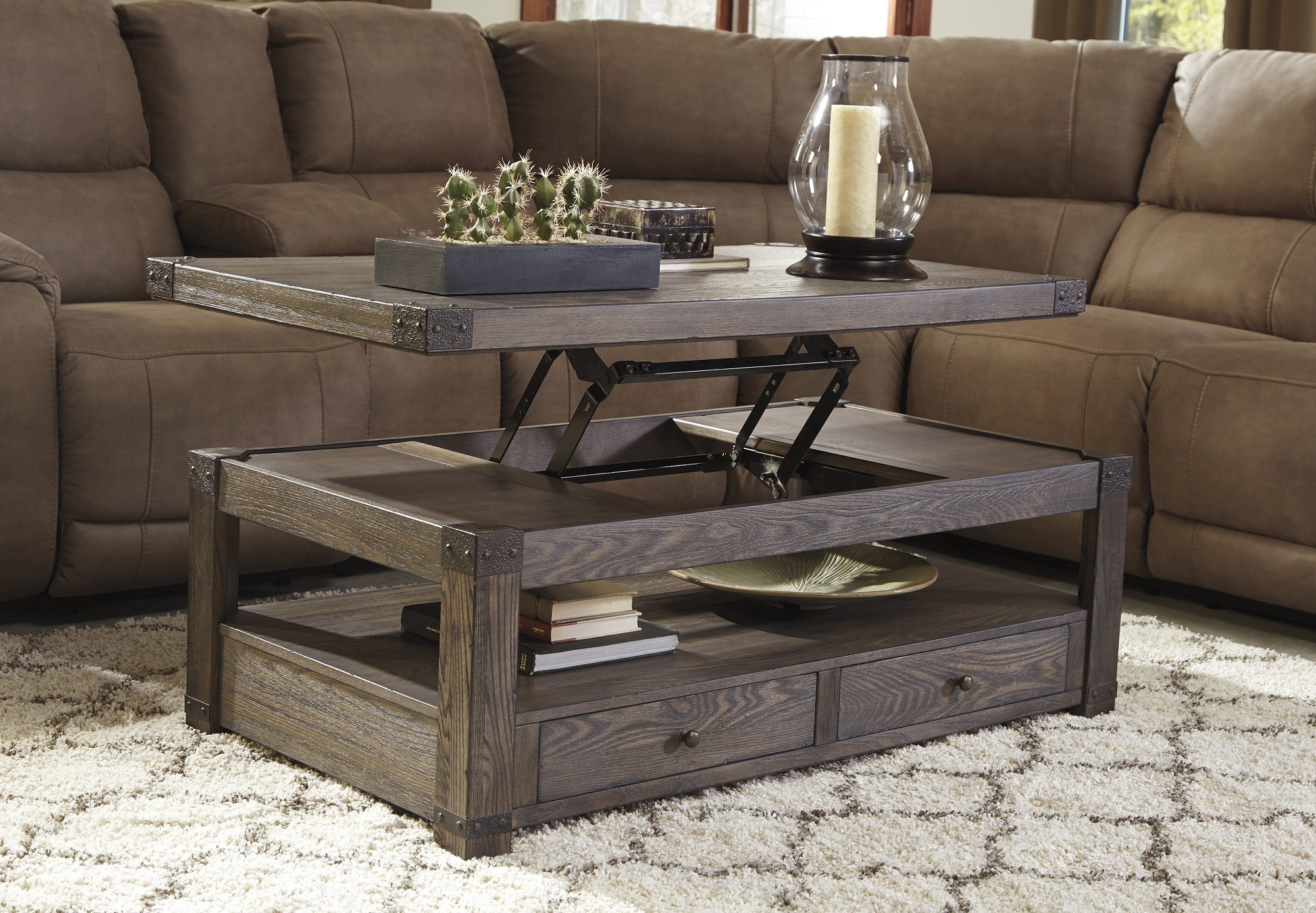 Burladen Lift Top Coffee Table Image