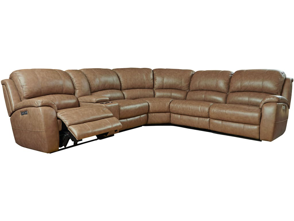 Godfrey Leather Sectional w power Image