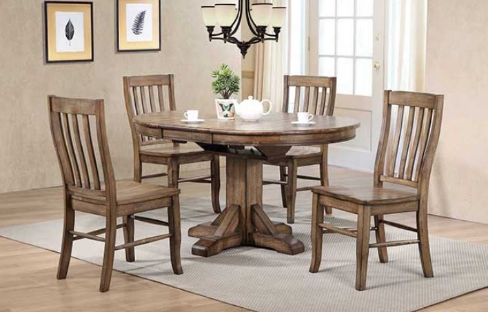 Carmel Pedestal Table With Butterfly Leaf Image