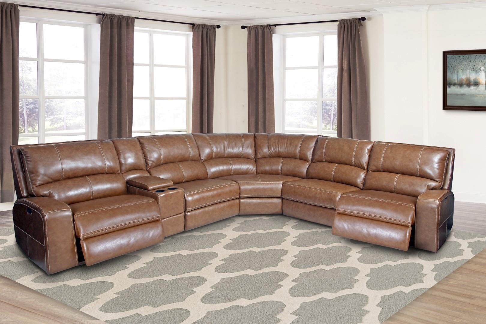 Swift Leather Modular Sectional Image