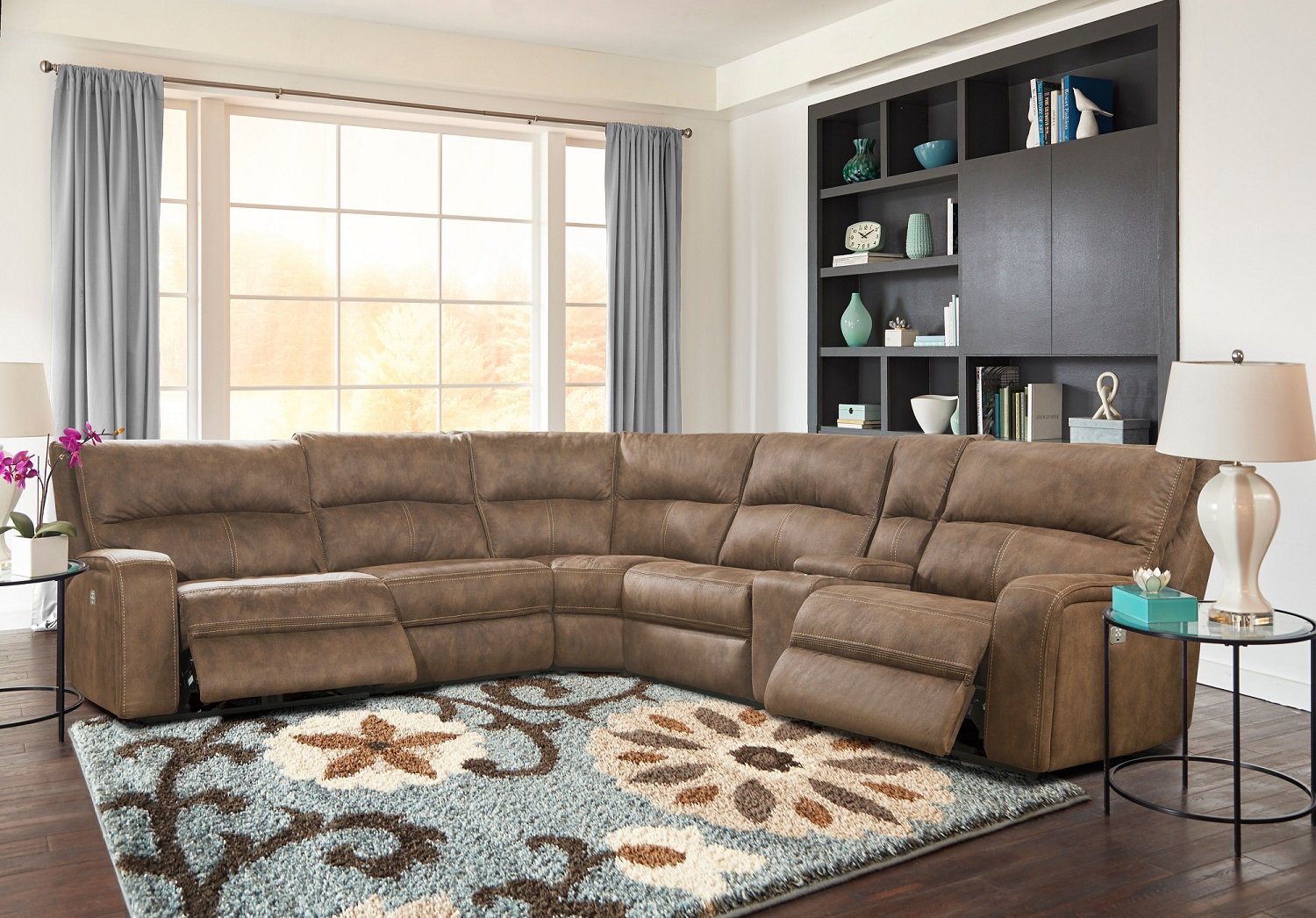 Polaris Power Recliner Sectional Image