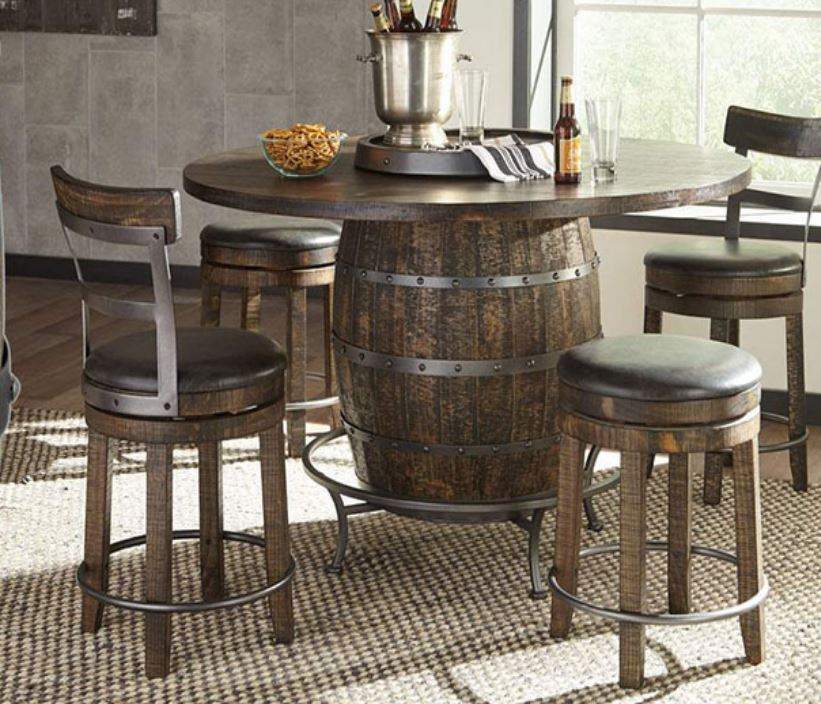 Wine Barrel Pub Table Image