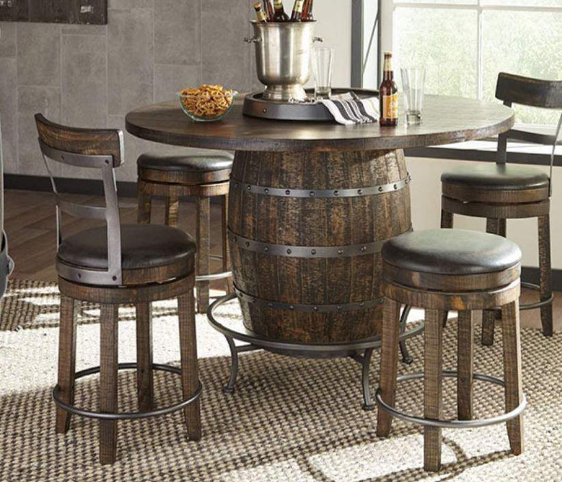 Wine Barrel Pub Table Image