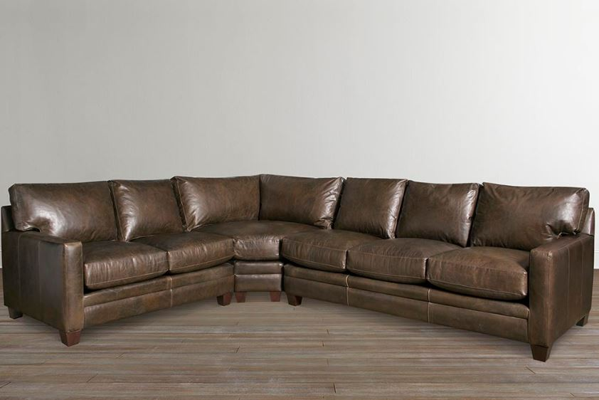 American Casual Ladson Leather Sectional Image