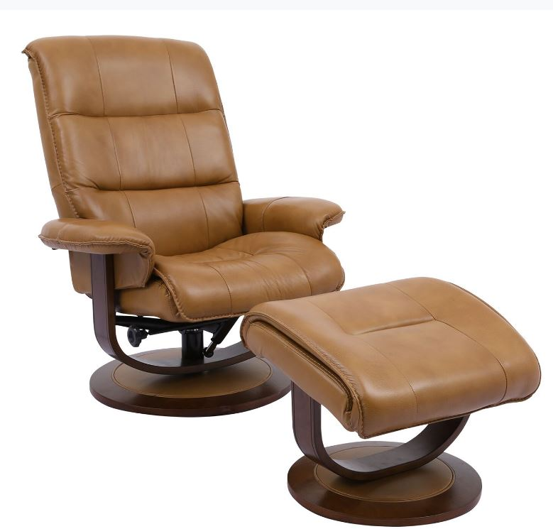 Knight Swivel Recliner With Ottoman Image