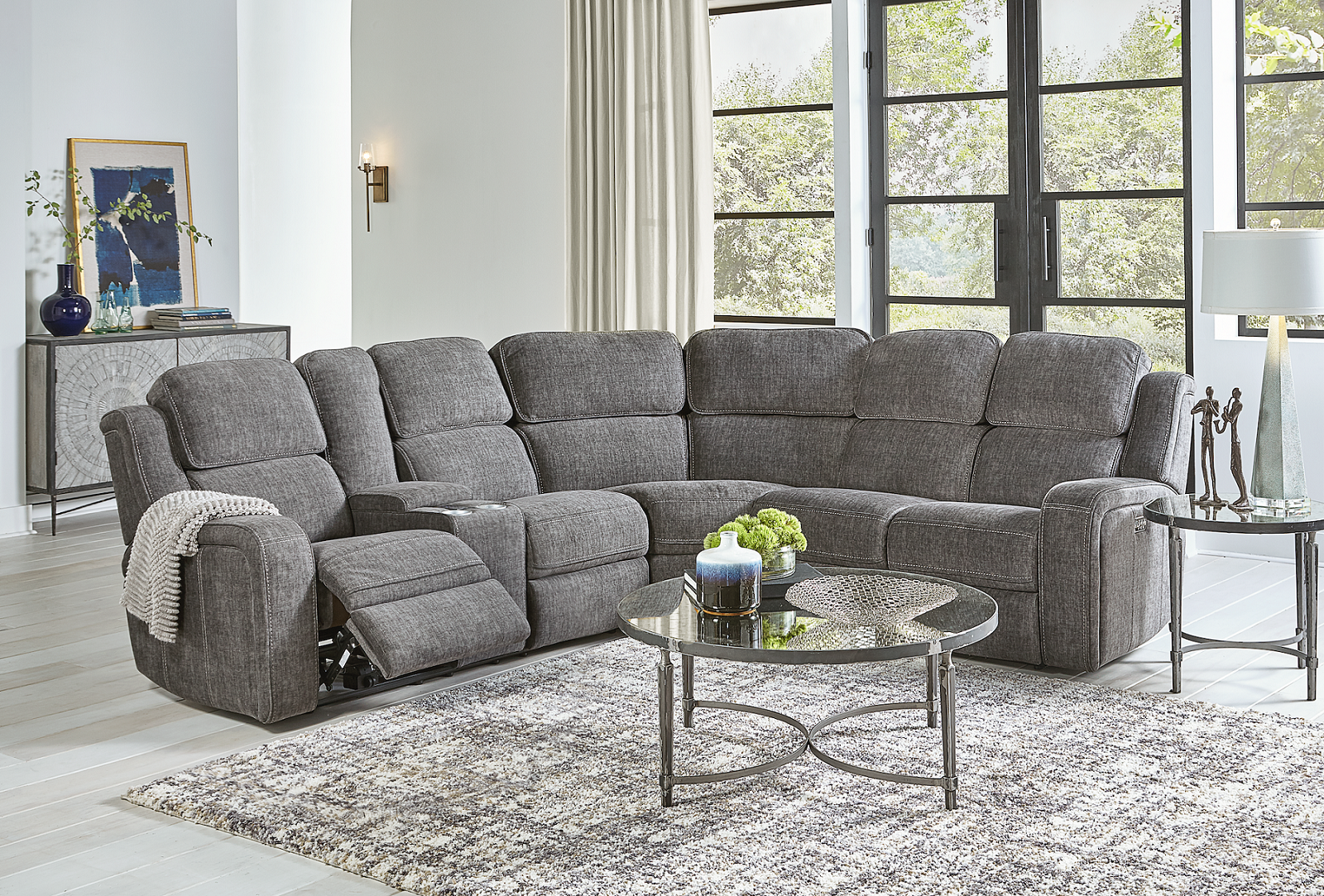 Naples Motion Sectional with Massage and more Image