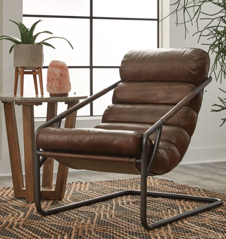 Jackson Leather Accent Chair Image