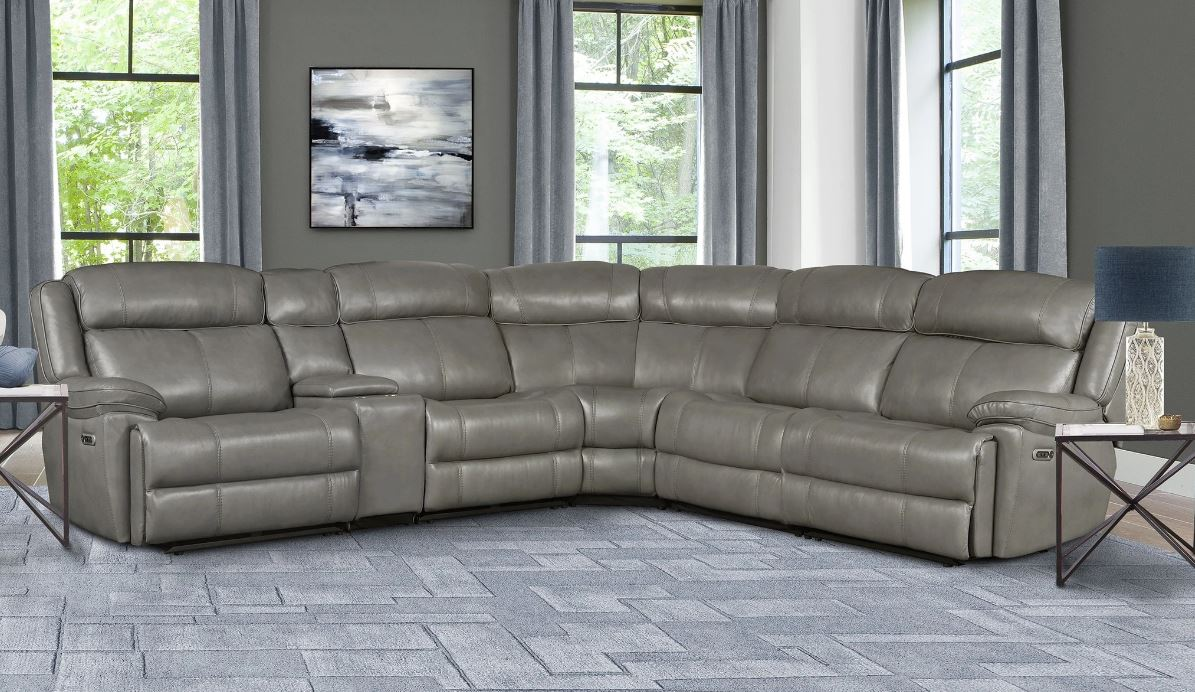 Eclipse Top Grain Leather Sectional Image