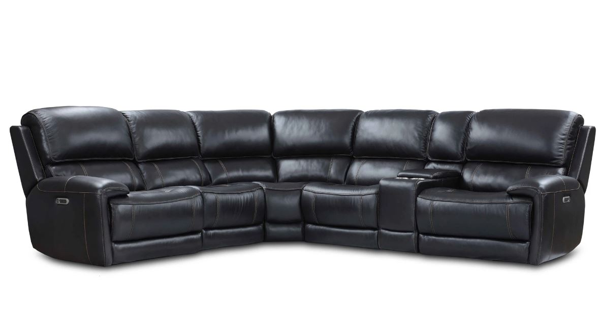 Empire Top Grain Leather Sectional Image